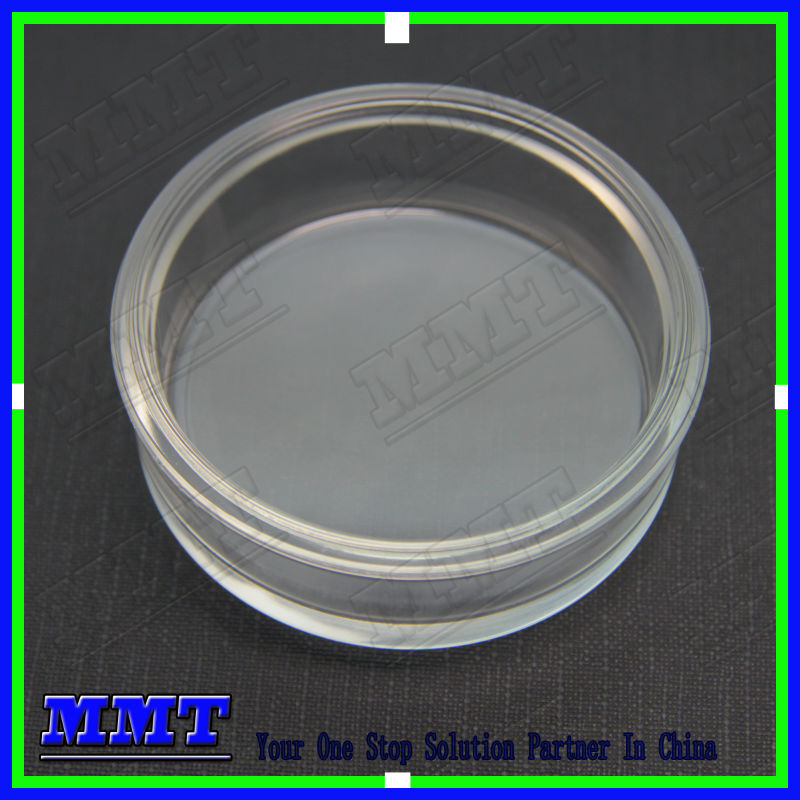 mold pressed supper clear glass water meter cover lens