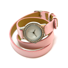 Custom high quality leather bracelet wrist watches for women
