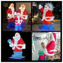 outdoor indoor holiday Christmas decoration 3d led santa claus light
