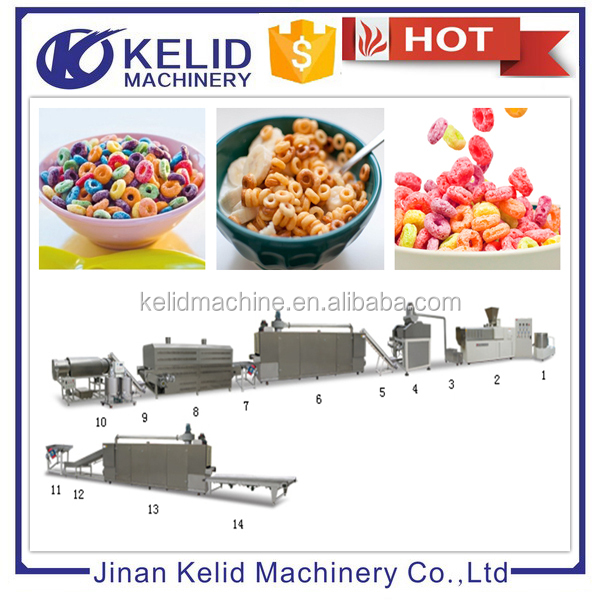 full automatic high quality corn flakes Breakfast cereal production line