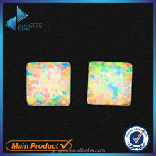 wholesale price square shape mexican opal rainbow fire opal for jewelry