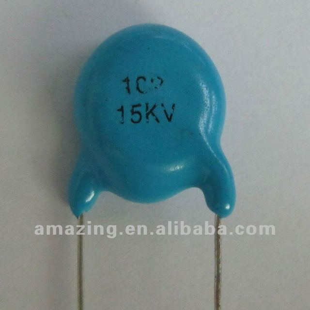 Ceramic Capacitor 15KV 1000PF used for high voltage power supply