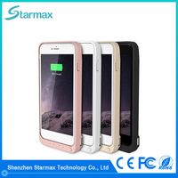 Fine texture smooth surface 8200mAh smart battery case for iPhone 6s