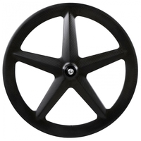 Carbon rear track wheel 5 spoke, fixed gear carbon spoke wheels