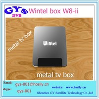Perfect cooling function Aluminum Metel case Wintel W8 dual OS window 8.1 and android 4.4 quad core tv box