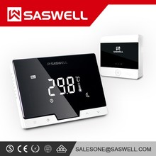 Factory WIFI floor heating color touch screen LCD Wireless control thermostat room touch programmable