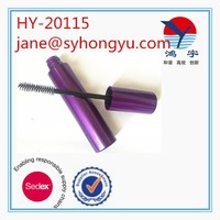 Purple color empty wholesale eyelash tube, plastic mascara tube containers