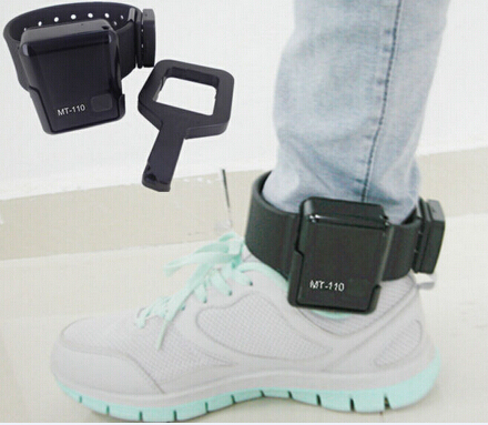 waterproof ankle bracelet MT110 for prisoner/offender with belt-off alarm/two way talking vi