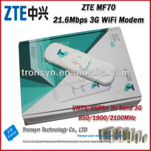 Unlocked Original HSPA+ 21.6Mbps ZTE MF70 ZTE 3G WiFi adsl modem Router Built-in 850/1900/2100MHz Tri Band