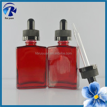 Fast delivery cheap red unique shape glass containers