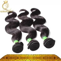 Alibaba express hair weft high quality tangle free 3 bundles hair weaving