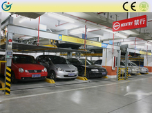 Supermarket underground two layer electric furniture car parking lift traverse system