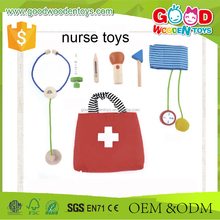 2017 Lovely Design Wooden Doctor Set Best Kids Role Play Toys