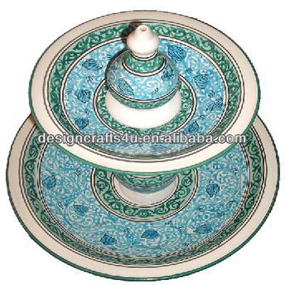 2 Tier Wholesale Porcelain Moroccan Plates