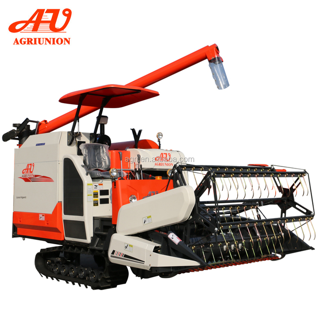 Agricultural machines 4LZ-4.0 Rice Wheat Combine Harvester