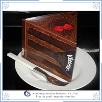 Delicious slice cake packaging box for luck