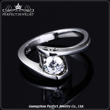 Guangzhou perfect jewelry factory wholesale simple ZC 925 sterling silver fashion ring jewellery