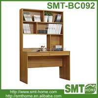 Modern cheap wooden bookcases with study table