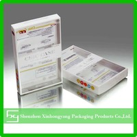 Wholesale cell phone case packaging plastic clear pvc box