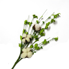Spring Artificial Cotton Boll with Twigs Spray Branch