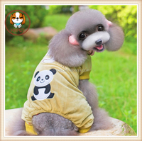 Fall and winter clothes cheap pet panda turned installed cartoon pet clothes