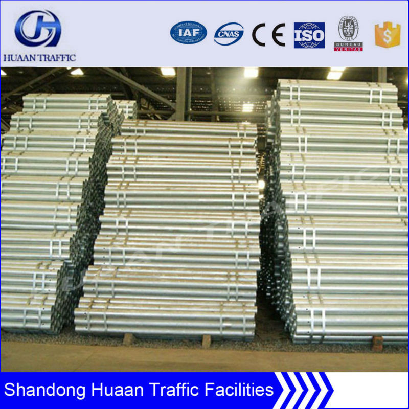 hot dip galvanized steel Security Barrier post with high quality