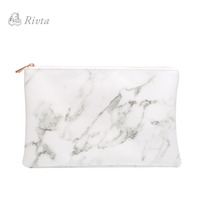 2017 hottest products private label luxury marble cluth bag pu cosmetic bag makeup case for women
