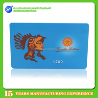 Gold/silver Embossing Number/Serial No. PVC Loyalty Number Card
