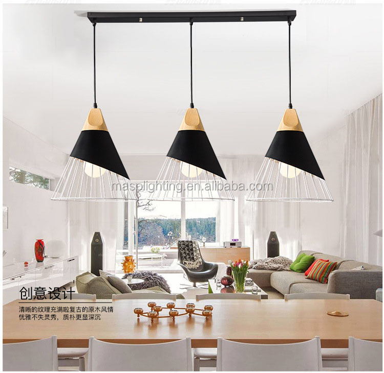European modern intertek lighting iron chandelier pendant light replica led brokis light decoration