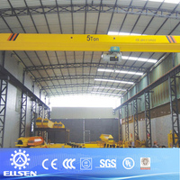 Motor driven CD MD electric hoist lifting single beam overhead crane price 5 ton