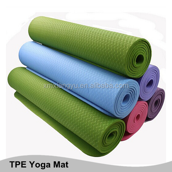Low price tpe yoga mat 6mm with custom printing