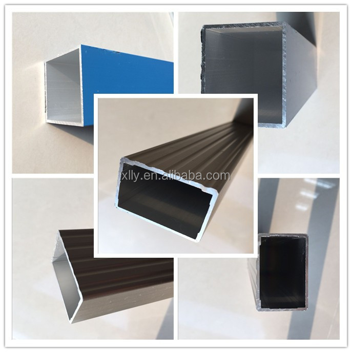 Polished anodized aluminum pipe with bright or matt surface