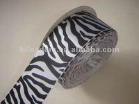 Decorative Polyester Zebra Print Satin Ribbon