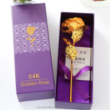 High Quality Gold Rose Flower Artificial Golden Roses 24K