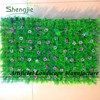 New style 25*25 or 40*60 artificial plastic decorative grass mat boxwood mat with pink flowers