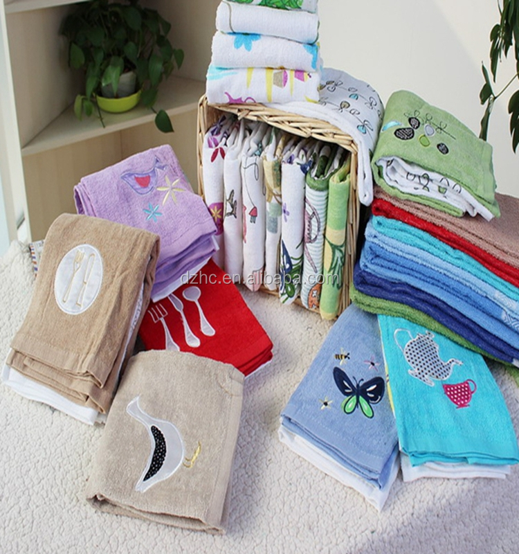 wholesale custom cotton tea towels