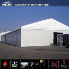 Warehouse with ABS solid hard wall storage tent