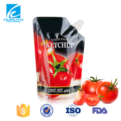 Custom Printed Foil Stand Up Ketchup Doy Pack