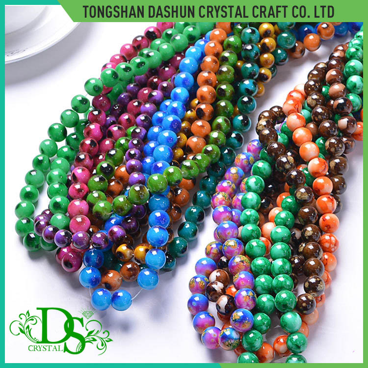 Colors glass imitation pearl beads necklace beads free samples