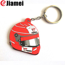 Promotion supply fashion sport plastic gift custom motorcycle helmet keyring