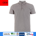 2017 new style gray high collar short sleeve for men sport polo shirt