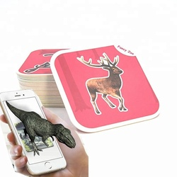 New products 2018 kids educational magic 4D augmented reality ar cards