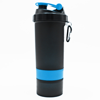 custom BPA free low price plastic 600ml gym shaker bottle