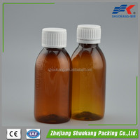 150ml Amber Medicine Plastic Bottle PET bottle for tablets