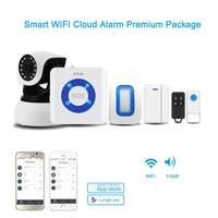 ssg alarm system smoke detector motion sensor with IP camera