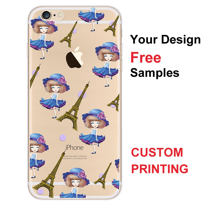 for iphone 6 soft TPU case cartoon picture print 3D embossment 360 degree protector phone cover