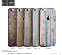 Original HOCO Wood Grain TPU Soft Back Cover Case For iPhone 6/6s 4.7 inch MT-4840