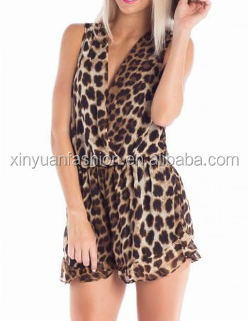 Womens trendy pajama jumpsuit pajama printing apparel factory in China