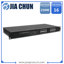 High Performance 250W Industrial 16 Port PoE+ Ethernet Switch