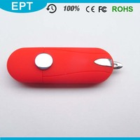 Red Plastic Ultra Sime Stick Lipstick Shape USB Flash Drive Write Protect Switch